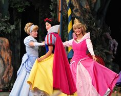Princess Cinderella,  Princess Snow White,  Princess Aurora