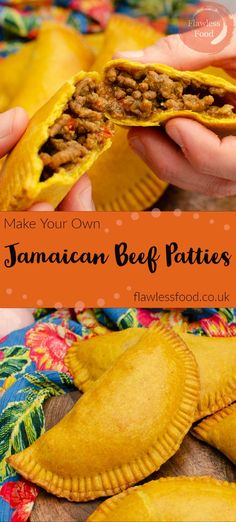 Bring the taste of the Caribbean home with this Jamaican Beef Patties recipe. How to make homemade patty pastry with turmeric and curry powder added to give it that authentic golden colour and tasty crust. Packed full with the best Jamaican style spicy minced beef filling. Cheese is optional. Can be made large or mini and easy to prepare ahead of time ready to reheat. Or freeze for a tasty snack another day.