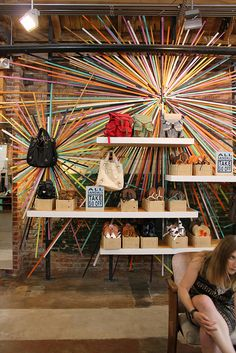 actually from Urban Outfitters in Hollywood. Starburst sculptures out of painted wood pieces