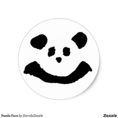 Panda Face Sticker  Available on more products! Type in the name of the design in the search bar on my Zazzle Products Page. Thanks for looking!   #sticker #button #pin #back #accessory #stationery #fun #zazzle #buy #sale #cute #cuddly #panda #bear #cartoon #illustration #black #white #drawing #nature #planet #earth #animal #friend