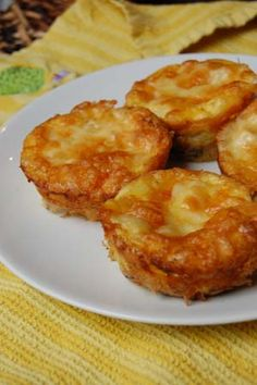 Gluten-Free Menu of the Week: Low-carb Mini Green Chili Quiche Muffin recipe | Book of Yum