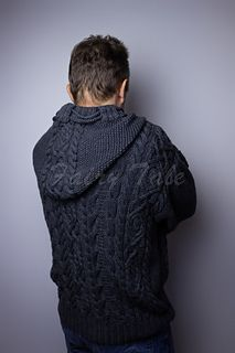 Ravelry: Men's Cable Sweater with Hood pattern by Irina Khoroshaeva