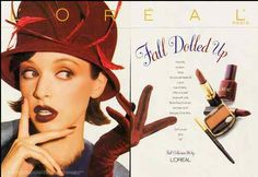 1995 Cosmetics Magazine Ad for 'Fall Dolled Up' L'Oreal 061112   eBay