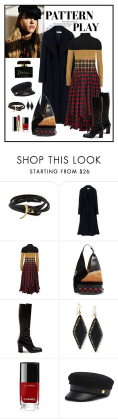 """Loewe Patchwork Midi Dress Look"" by romaboots-1 ❤ liked on Polyvore featuring Tory Burch, Jil Sander, Loewe, Ashley Pittman, Chanel, Henri Bendel and Dolce&Gabbana"