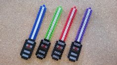 Super cute perler bead light saber creations are a great addition for your next Star Wars party or fan. Light sabers can be made in any color, so if theres a color you want and dont see please send me a message and Id be happy to make up some custom creations for you! I have 40+