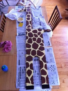 Giraffe Growth Chart  I soo need to figure out how to replicate this!