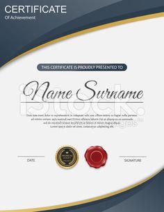Vector certificate template. royalty-free stock vector art