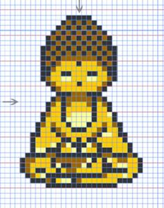 New charted patterns: Buddha and Om | Stuff Peasie Made @kechrist89 haha make me oneeee with your cross stitch skilllllzzz!! :D