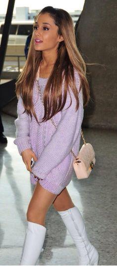 New Ariana Grande Fashion- love her boots!