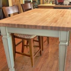 Butcher Block Dining Room Table Chairs