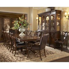 Fine Furniture Design Hyde Park Double Pedestal Dining Table FF-1110-818-819