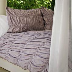 Lilac Ruched Duvet