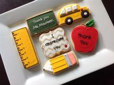 1 Dozen Teacher appreciation {NatSweetsCookies via etsy} #teacher #cookies