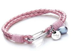 Beautiful pink tribal leather bracelet on special offer.....