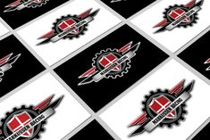 Logo design for Markussen Racing Logo Design, Racing, Smile, Cards, Running, Auto Racing, Maps, Playing Cards, Laughing