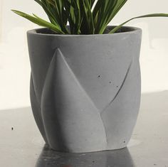 Flower Bud Concrete Planter