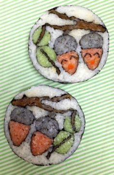 """どんぐりくん   """"デコふり""""使ってデコ巻き寿司デザインコンテスト 応募詳細   楽習フォーラムコンテスト"""