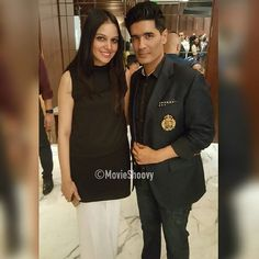 #India's most successful fashion designers #ManishMalhotra with Saira from #SairaShakira at #Woolmark Awards in #Mumbai #India #Bollywood #bollywoodfashion #BollywoodNews #woolmarkprize