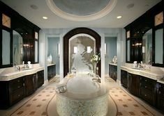 so this style is a bit much for me and hate the etched glass, but I really love this layout for master bath