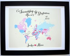 Best Friend Custom Art Print: Friend Gift Foreign by Picmats                                                                                                                                                      More