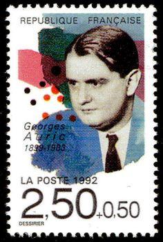 Zoom sur le timbre «Georges Auric 1899-1983 »