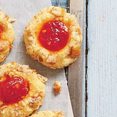 Cornmeal Thumbprint Cookies with Tomato Jam - July 2015 Recipes - Southern Living