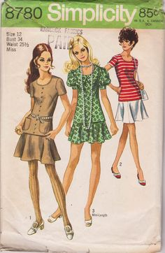 Vintage Sewing Pattern 1970s Two-Piece by LittleChickenScratch