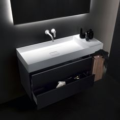 The collection which redefines the thickness for bathrooms. Man Cave Bathroom, Modern Bathroom, Bathroom Ideas, Downstairs Loo, Sink, Shelves, Mirror, Interior, Bathrooms