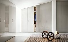 Sectional wardrobe with sliding doors custom Wardrobe with sliding doors by Lema design CRS Lema Sliding Wardrobe Doors, Walk In Wardrobe, Canapé Design, Interior Design, Design Ideas, Made To Measure Wardrobes, Armoire Design, Wood Hinges, Ikea Pax
