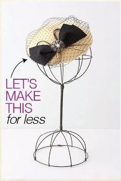 DIY Tutorial Wedding / Fascinator - Bead&Cord How to Make a Fascinator : DIY Wedding DIY Fascinator using straw hat as a base<br> Turbans, Fascinator Diy, Tea Party Hats, Men Party, Wedding Fascinators, Millinery Hats, Diy Hat, Love Hat, Diy Hair Accessories