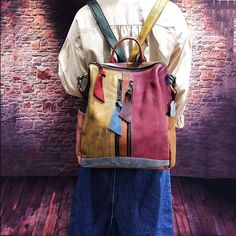 Buy it before it ends. There is always many products on sae upto - Cowhide Leather Backpack Women Casual High Quality Genuine Leather Retro Knapsack Female Vintage Big Capacity Sling Bag Packsack - Pro Buyerz Handbags On Sale, Purses And Handbags, Backpack Bags, Leather Backpack, Sling Backpack, Unique Backpacks, Sacs Design, Casual Bags, Cowhide Leather