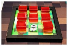"""Lava"" Jello Cups from a Minecraft Birthday Party via Kara's Party Ideas 