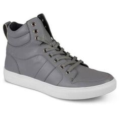 Daxx Men's Fashion High Top Lace-up Sneakers, Gray