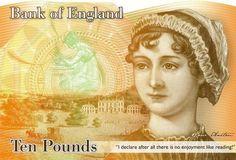 Jane Austen aparecerá en los próximos billetes de diez libras