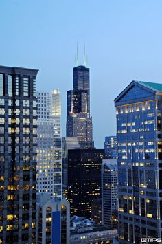Chicago, the third most populous city in the USA, here, the Illinois Center by eTips Travel Apps