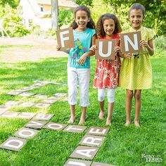 Keep your kids entertained during a birthday party or just on a regular weekend day with these fun DIY outdoor games. You'll love how cheap and easy these are to make and how entertained your kids will be playing outside.
