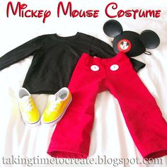 Simple and Easy Mickey Mouse Costume for a Toddler