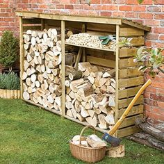 Keeps logs dry and aired Pressure treated to protect against rot Shelf included Natural timber finish  Product Dimensions: External Height: 1560mm Width: 2290mm Depth: 560m