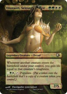 Trostani Art Cube, Mtg Art, Legendary Creature, Magic The Gathering Cards, Magic Cards, Art Cards, Berserk, Altered Art, Card Games