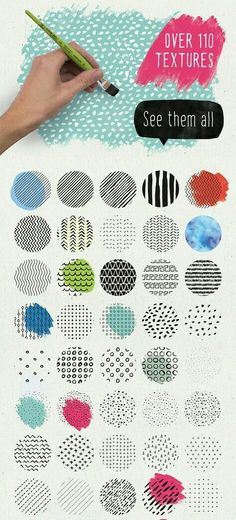 The Digital Designer's Artistic Toolkit of Best-Selling Items) - Design Cuts Textures Patterns, Fabric Patterns, Print Patterns, Web Design, Graphic Design, Zentangle, Start Ups, Watercolor Texture, Watercolour