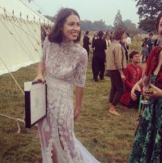 Hermione de Paula   Carla and Milo's wedding Lace Dress