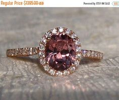 SUMMER SALE... Precision Cut Oval Peachy Pink Spinel in Rose Gold Diamond Halo Engagement Ring, Peach Spinel Engagement Ring, Rose Gold Enga by JuliaBJewelry on Etsy https://www.etsy.com/listing/258886499/summer-sale-precision-cut-oval-peachy