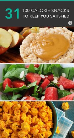 100-Calorie Snacks That Actually Keep You Full and Satisfied #recipes #snacks #lowcal