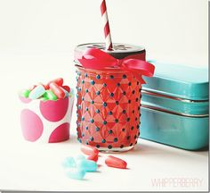 Glass Paint Polka Dots - Mason Jar Crafts Love