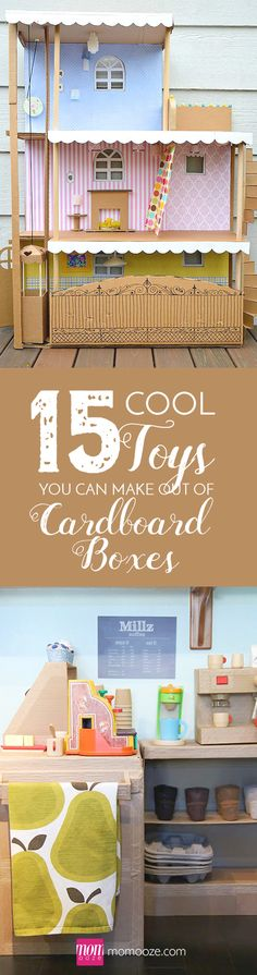 15 Cool Toys You Can Make Out of Cardboard Boxes #cardboard #boxes #toys  #diy #forkids