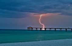 FORT WALTON BEACH FLORIDA - i love it here because it has the most amazing thunderstorms The Boardwalk at Fort Walton Beach, FL    The Pier by Nortiker.deviantart.com