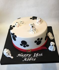 Dalmatian Birthday Cake Themed Cakes Dog Feik Cute Desserts