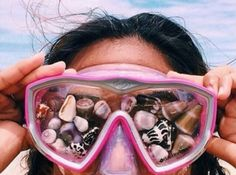 Dive mask and shells