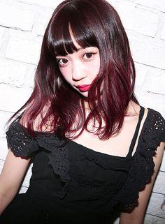 選べるブリーチ + MIXベリーカラー【CAROLINA DISCO】 http://www.beauty-navi.com/style/detail/58480?pint ≪#red #pink #hairstyle #ヘアスタイル #髪形 #髪型 #赤 #ピンク #レッド #mediumhair #ミディアム ≫