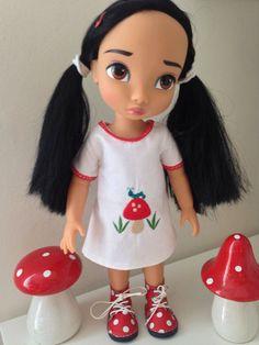 dress by sherbet lemoni for Disney animator dolls via Etsy